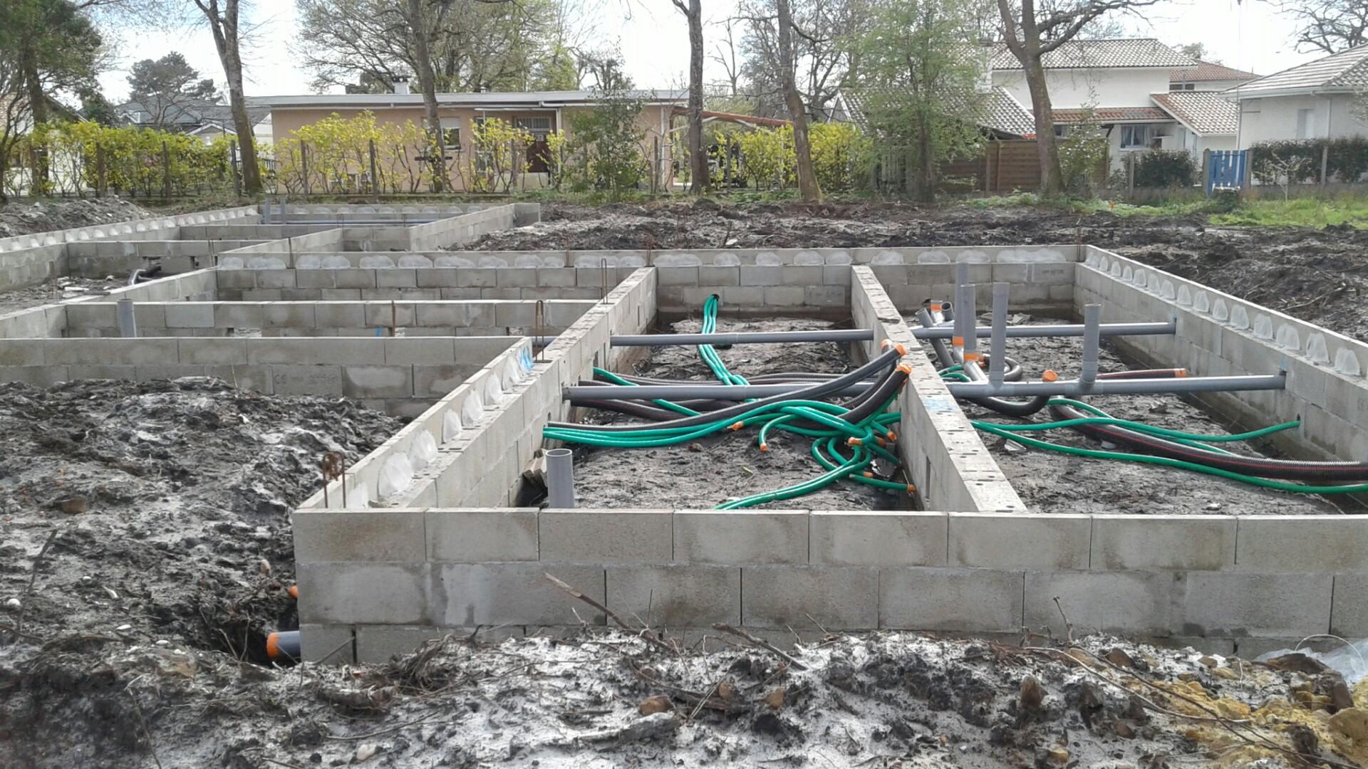 fondations d'une maison neuve