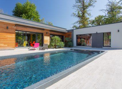 maison contemporaine californienne avec piscine