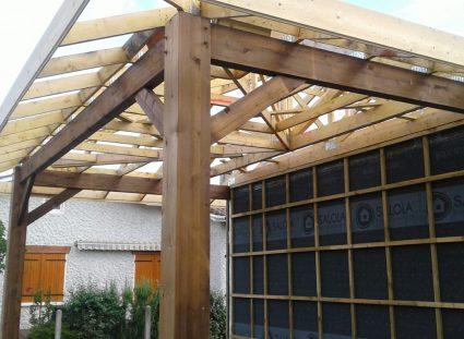 maison bois avec carport