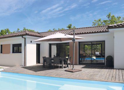 maison sur mesure avec terrasse bois