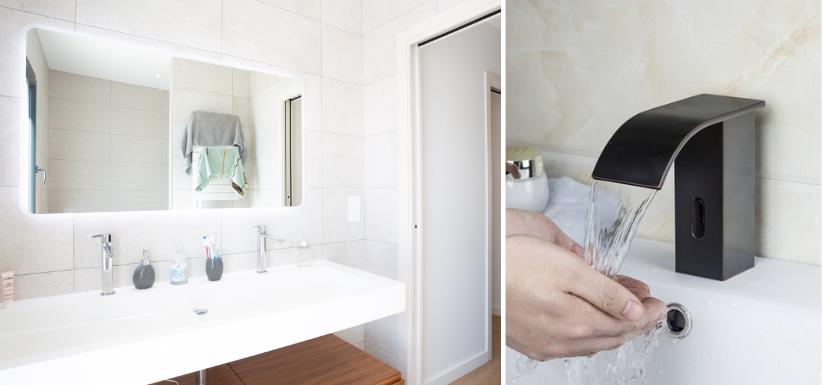 salle de bains avec un mobilier connecté