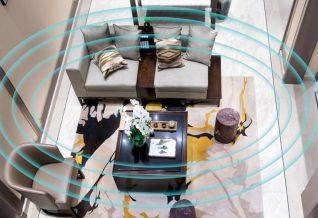 système hifi dans la pièce