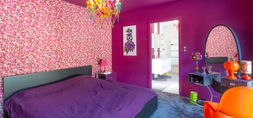 Aménager sa chambre : chambre colorée