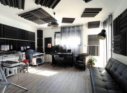 studio enregistrement dans la maison