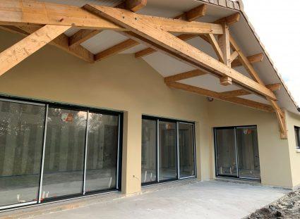 terrasse couverte de 30 m²