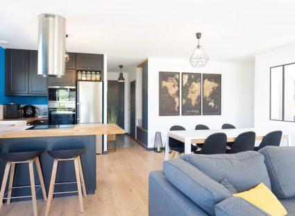 salon séjour cuisine de 43 m²