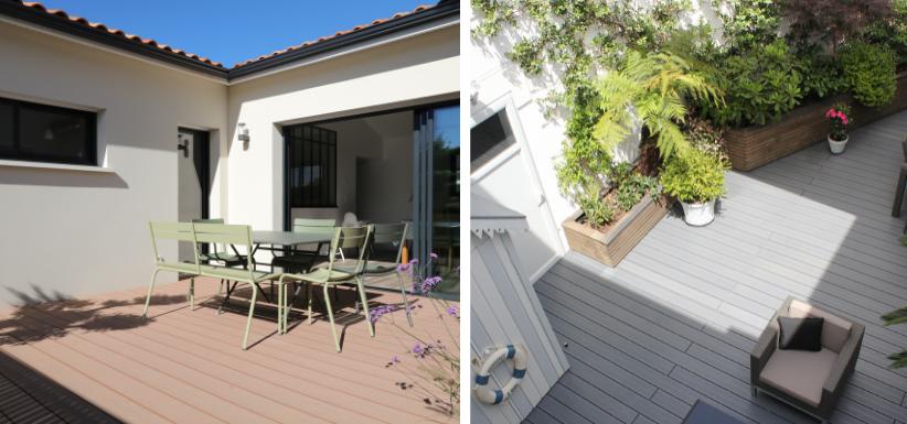 terrasses avec bois composite