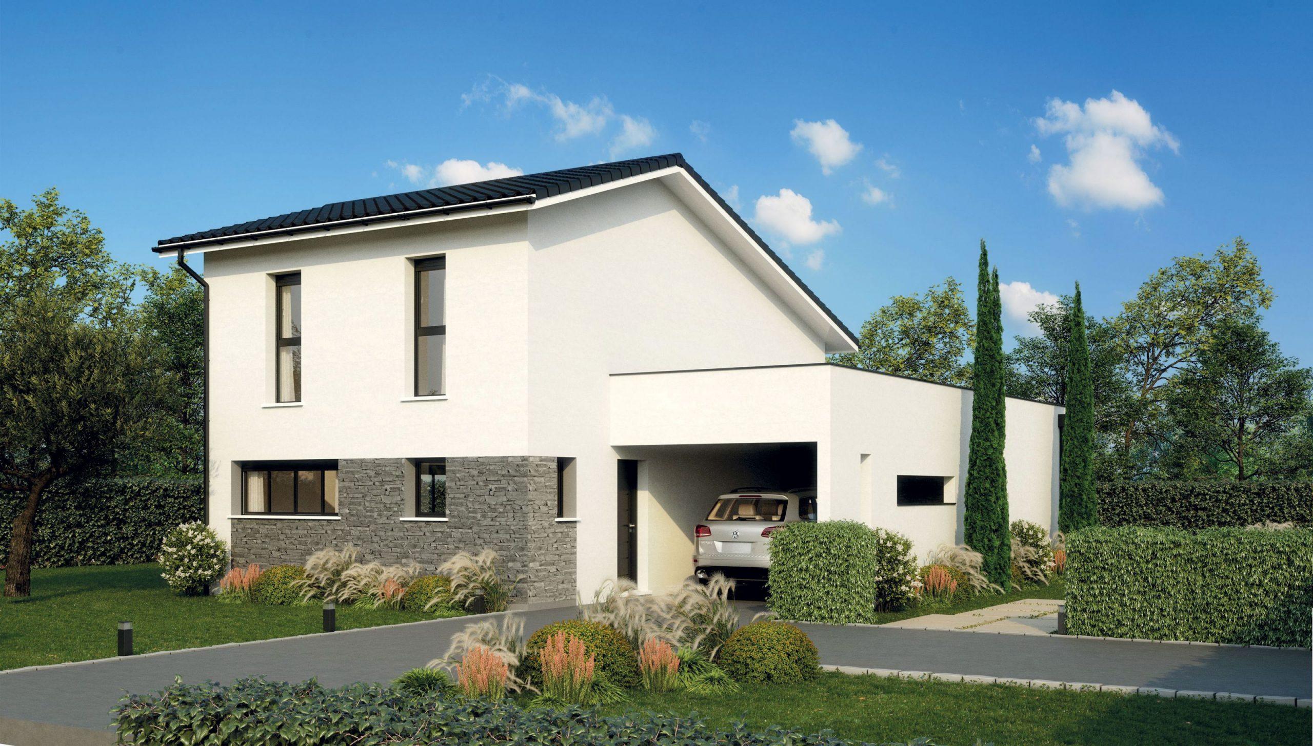 maison a étage avec garage