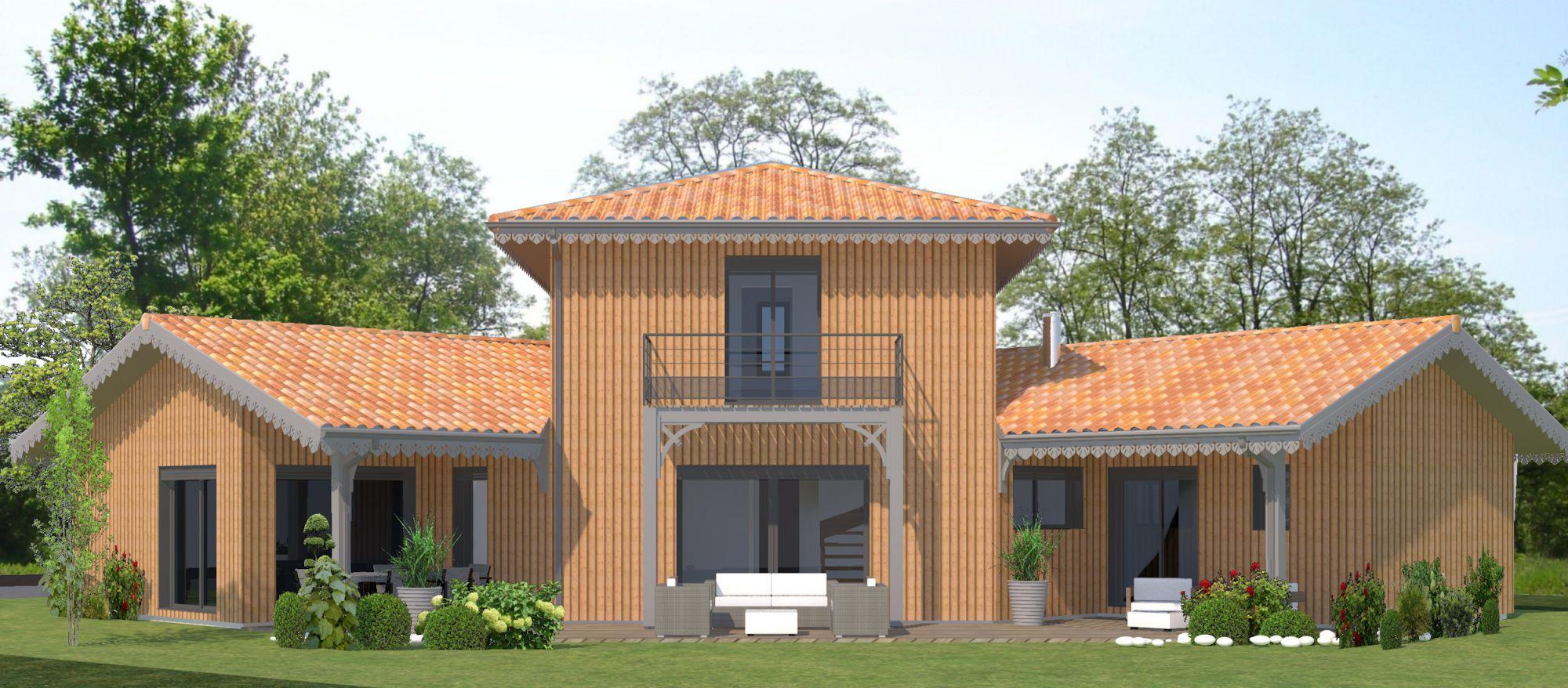 maison a étage facade arrière