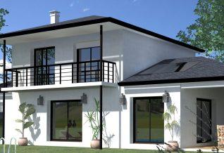 maison contemporaine a étage anglas