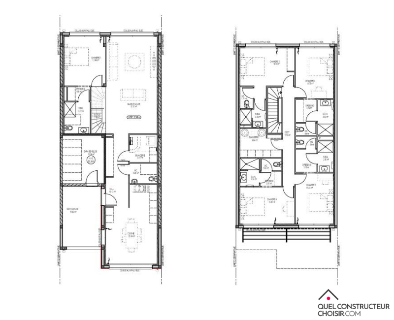 plan maison à étage Koloc