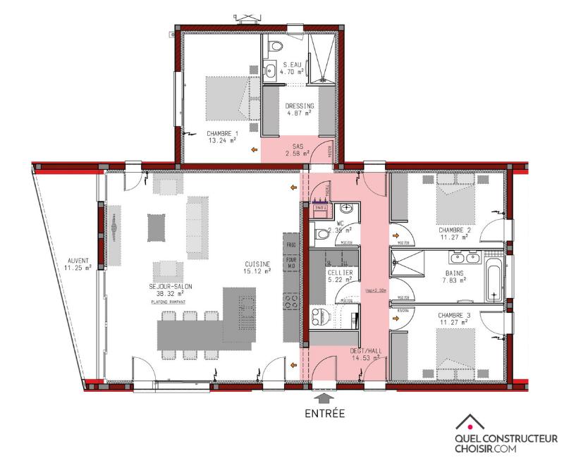 plan de maison modulable
