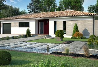 maison moderne façade avant